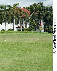 cours, golf, luxe, villa