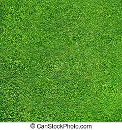 cours, texture, herbe, vert, golf, beau