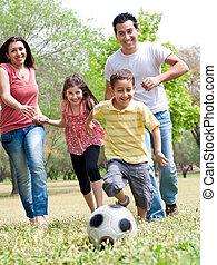 course, famille, heureux