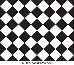 course, flag., seamless, arrière-plan., vecteur, noir, modèle, ska, blanc, cage, plaid.