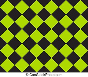 course, flag., seamless, arrière-plan., vecteur, vert, modèle, ska, plaid., cage, noir