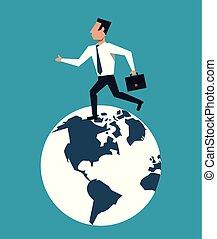 course homme affaires, mondiale