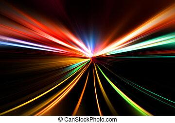 course, rapide, autoroute, nuit