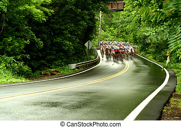 course, vélo, route