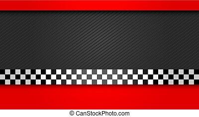course, vecteur, chauffeur, carte affaires, illustration