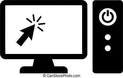 courser, monitor computador