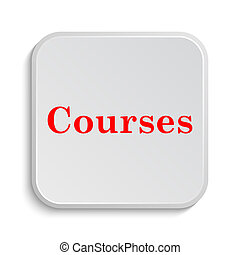Courses icon. Internet button on white background.
