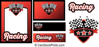 courses, motorsport, ensemble, gabarit