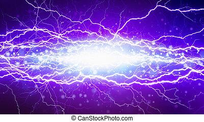 court, électrique, éclairs, puissant, élevé, clair, tension, circuit