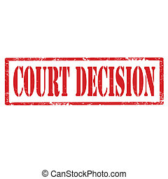 Grunge rubber stamp with text Court Decision, vector illustration