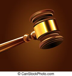 Court Gavel - a colorful illustration of a hammer in court