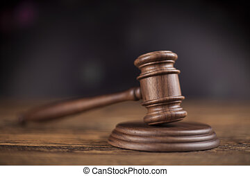 Court gavel, Law theme, mallet of judge