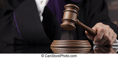 Court gavel,Law theme, mallet of Judge - Courtroom, Judge,...