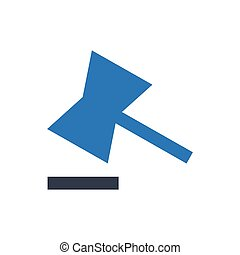 court  glyph color icon