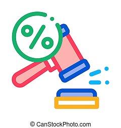 Court Hammer Icon Vector Outline Illustration