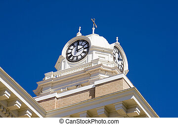 Court House Clock - Old clock on top of a historic court ...