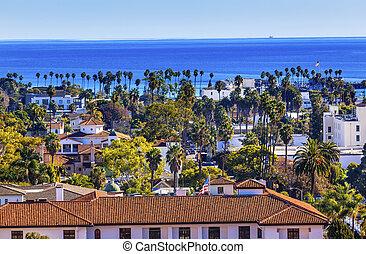 Court House Main Street Pacific Ocean Santa Barbara California
