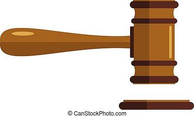 Court icon, flat style
