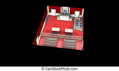 """Court justice room, concept animation."""