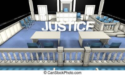"""""""Court justice room, text background."""""""