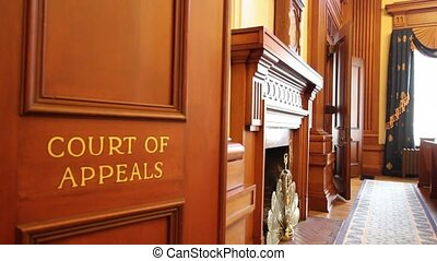 Historic Pioneer Courthouse Court of Appeals Courtroom in Portland Oregon Downtown 1080p Panning