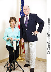 Court Reporter and Judge