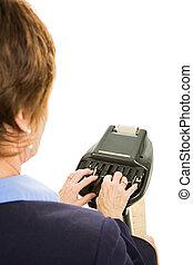 Court Reporter - Over Shoulder