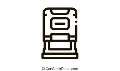 court seal Icon Animation. black court seal animated icon on white background
