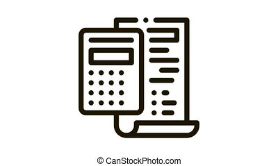 court sentence cache calculation Icon Animation. black court sentence cache calculation animated icon on white background
