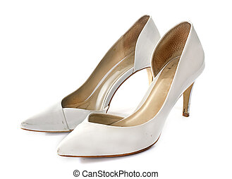 court shoes in front of white background