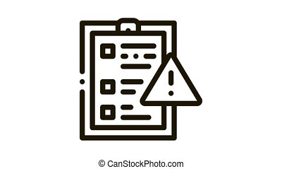 court statement Icon Animation. black court statement animated icon on white background