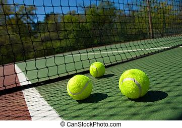 court tennis, balles