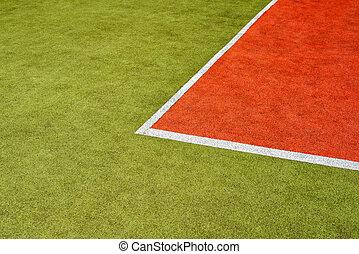 court tennis, herbe