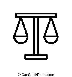 court thin line icon