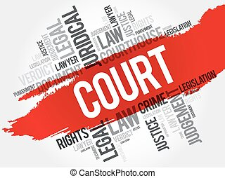 Court word cloud