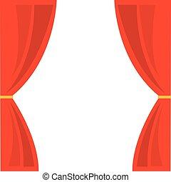 courtain, mostrar, teatro, ícone