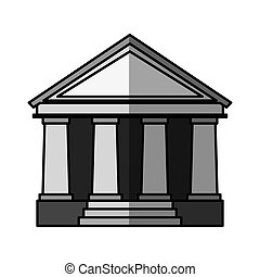 courthouse building icon courthouse or bank building flat