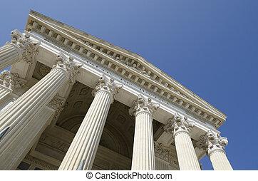 courthouse against a blue sky