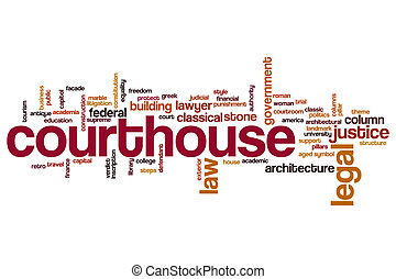Courthouse word cloud