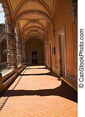 Courtyard Arches Mexico - Courtyard, arches, Temple and...