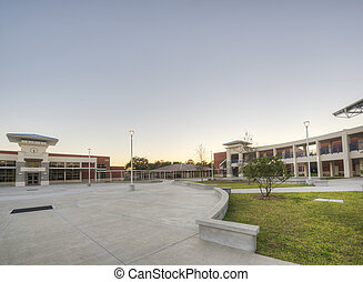 Courtyard at High School in Florida