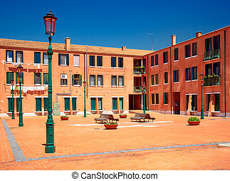 Courtyard in Murano, Italy - Courtyard on Calle San Cipriano...