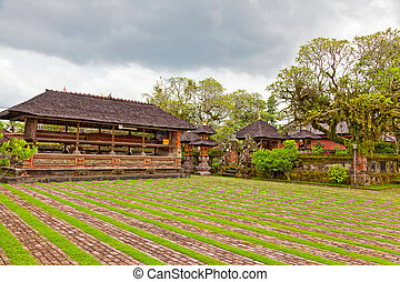 Courtyard of a Buddhist temple to Bali