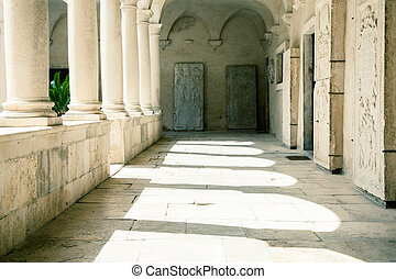 Courtyard of a Temple. Zadar, Croatia