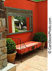 Courtyard of a villa - Courtyard of mediterranean villa in...