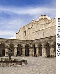 Courtyard of Church in Peru