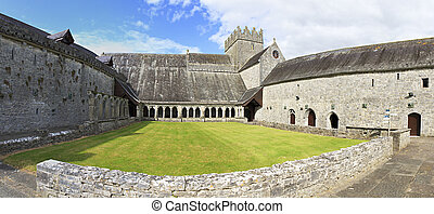 Courtyard of the Holycross Abbey. County Tipperary in...