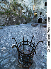 Courtyard of the Strecno castle, Slovakia