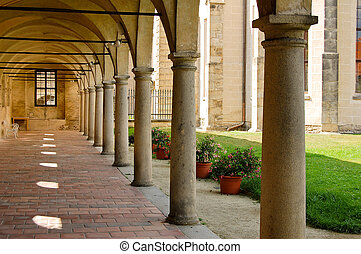 Courtyard in the Castle Czech republic - Telc