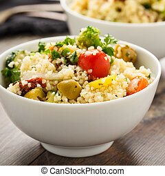 Cous Cous with vegetables - Frewsh cous cous with grilled...